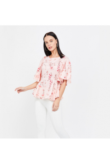 Flared Sleeve floral Top
